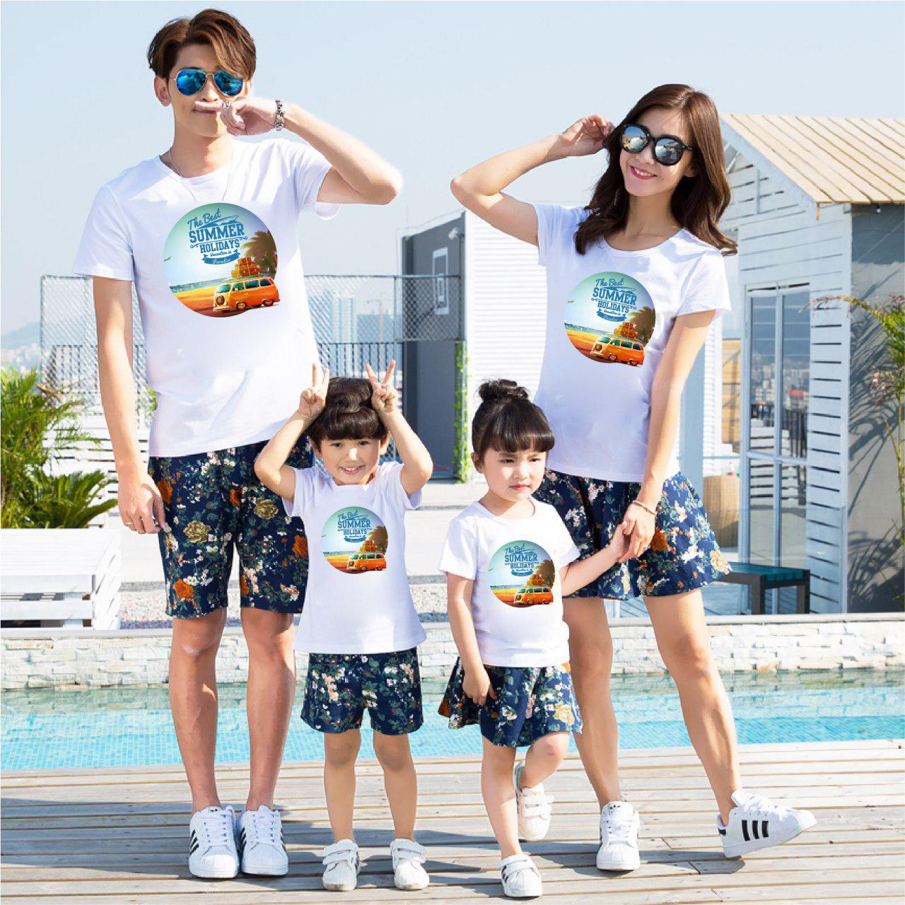 Áo gia đình mùa hè Biển tình