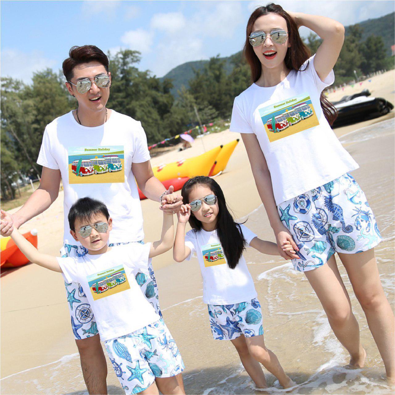Áo gia đình mùa hè Chuyện tình của biển