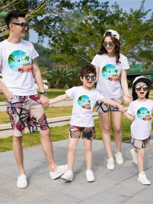 Áo gia đình mùa hè Bóng biển