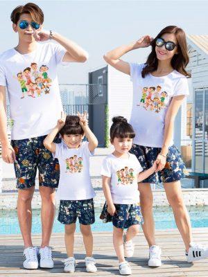 Áo gia đình mùa hè Nắng vui càng vui